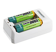 Pisen TS-MC005 Battery Charger for AA/AAA Battery with AU Plug(Included 2xAAA)