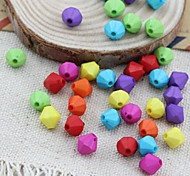 Z&X®  DIY Beads Material Colored Bicone Shaped Beads 100 PCS(Random Color, Pattern)