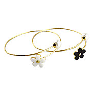 Shixin® Fashion Flower Shape Golden Cuff Bracelets(1 Pc)