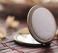 1 Pcs Portable Folding Two Sides Small And Exquisite Metal Cosmetic Mirror