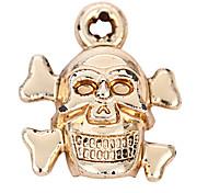 alliage crâne bricolage charme des pendants d'oreille&collier (10 pcs par paquet)