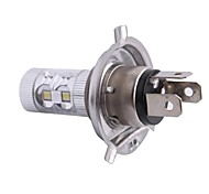 LED H4 60W 12x LED SMD 650LM 6500K Luz Blanca para Coche Faros antiniebla Faro (DC12-24V)