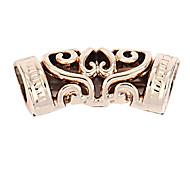 alliage tubes creux bricolage charme des pendants d'oreille&collier (5 pièces par paquet)