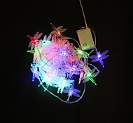 40-LED 5M Multicolor Dragonfly Color Changing String Fairy Lights for Christmas Party Wedding