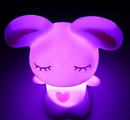 3pcs Love Rabbit Colorful LED  Night Light  and Lovely