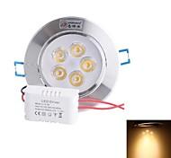 zhishunjia 5w 5xLED 350lm 3500K теплый белый свет Светодиодная лампа потолка (AC85 ~ 265V)