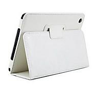 Solid Color Ultra-thin PU Leather Full Body Case for iPad mini 3, iPad mini 2, iPad mini(White)