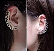European  (Fan Shape)  Alloy Ear Cuffs(Silver,Gold) (1 Pc)