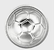 stampo di forma piccolo calcio calcio diy torta di compleanno cottura gelatina pan, alluminio 7 × 7 × 7 cm (2.8 × 2.8 × 2.8 pollici)