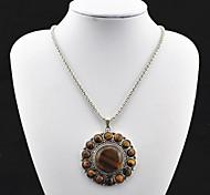 Vintage argento antico della tigre pietra Collana Eye Toonykelly ® (1 Pc)