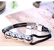 Fashion Brief Style Two Pipe Black Alloy Tennis Bracelet(1 Pc)
