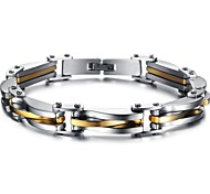 Fashion and Personality Between Golden Man Titanium Steel Bracelet