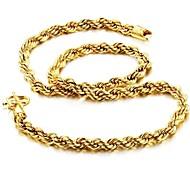 Giro Personalidad 18 K chapado en oro Collar Hombre