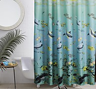 Tropical Fish Polyester Shower Curtain