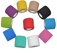 Sports Outdoor 5cm x 4.5m 11 Rolls/Lot Self Adhesive Nonwoven Cohesive Bandage (Assorted Color)