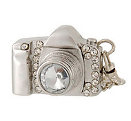 8 GB Camera Design USB Flash Drive with Rhinestone Decoration