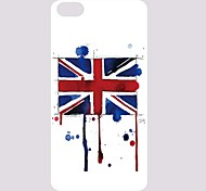 Retro vlag Patroon PC Back Case voor iPhone 5C