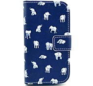 Indian Elephant Design PU Leather Full Body Case with Stand for Samsung Galaxy S3 Mini I8190