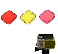 G-540B  PC Under Sea Filter Covers Set for Gopro Hero 3