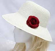 balnéaire chapeau de soleil des femmes avec Bourgogne fleur