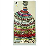 The Peacock Girl Leather Vein Pattern Hard Case for Huawei Ascend P6