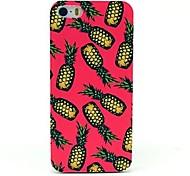 vormor® caso duro teste padrão do fundo de abacaxi-de-rosa para iPhone 5 / 5s
