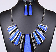 Hot Sale Classic Colorful Silicone  Alloy (Necklaces&Earrings&) Gemstone Jewelry Sets(More Color)