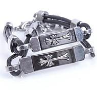 Couple's Titanium Cross Bracelet