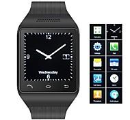 zgpax ® s18 telefone Bluetooth 3.0 pulseira de relógio (mensagem, mp3, fm)