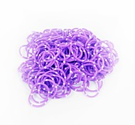 Purole Loom Bands Random Color Rubber Band (200pcs Bands,12pcs S Hook,1pcs Crochet Hook)