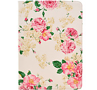 Rose Flower Pattern PU Leather Full Body Case with Stand for iPad Air