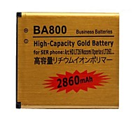BA800 2860mAh Li-ion Polymer High Capacity Gold Battery for Sony Ericsson Arc HD LT26 Nozomi Xperia LT26I etc.