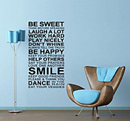 JiuBai™  Be Sweet Quote House Rule Word Art Wall Sticker Wall Decal