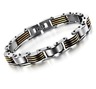 Golden Black Cool Between Titanium Steel Men's Bracelet Jewelry