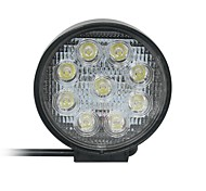 27W Ponto 9-Epistar LED Light Bar Offroad Car LED Light Bar Circular Lâmpada de Trabalho