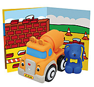 Popbo Vehicles - Ivan Cement Truck Model Toy (Orange)