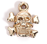 Alloy Skull Pirate DIY Charms Pendants for Bracelet & Necklace(10 PCS Per Package)