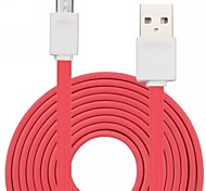 Qisan CD30 Colorful Mirco USB Data Noodles Shape Cable Car Charger for Lenovo / ML and other 1M 3FT