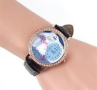 Hochzeits-Kleid Cartoon-Muster Metallic-und Diamant-Armbanduhr (1 St.)