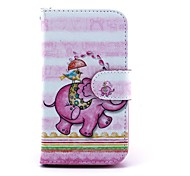 Pink Elephant Pattern PU Leather Full Body Case with Stand for Motorola MOTO G