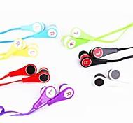 Nouilles coloré 3.5mm écouteurs intra-auriculaires Ecouteurs Casques avec microphone pour Apple iPad iPhone iPod