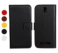 Solid Color Pattern PU Leather Full Body Case with Stand and Card Slot for HTC Desire SV T326E(Assorted Colors)