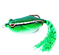 Fishing Bait Frog 60mm/16g Green Fishing Lure Pack with Two Hooks