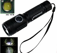 ZHISHUNJIA ZSJ208BT6 5-Mode 1xCree XM-L T6 LED Zoom Flashlight (900LM, 1 x 18650, Nero)