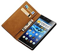 Black Genuine Leather Phone Bag Case for Lenovo K900,Stand Design with 2 Card Holders