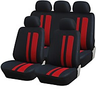 9 PCS Set Car Seat Covers universale Fit Materiale Stripe Poliestere Design Accessori Auto