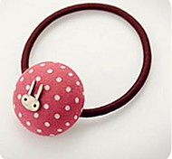 Candy Fabric Polka Dot Butterfly Rabbit Elastic Hair Ties
