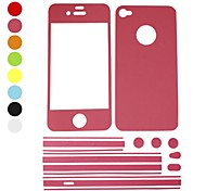 Elonbo Fingerprint Proof Matte Full Body Protector Stickers Case Cover for iPhone 5/5S(Assorted Colors)