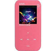 "ONN Q2 Ultra-Slim 1.5 ""Screen MP3 Player com Gravador de FM-Vermelha (4GB)"