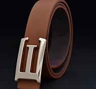 Men's Fashion Big Letter G Smooth Buckle Waist Belt